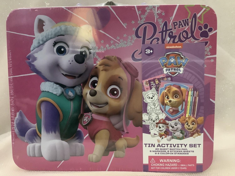 Paw Patrol Tin Activity Set - Pink