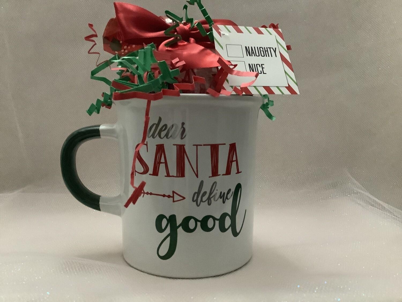Naughty or Nice Mug with Candy
