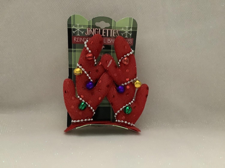 Jinglettes Reindeer Bell Barrettes