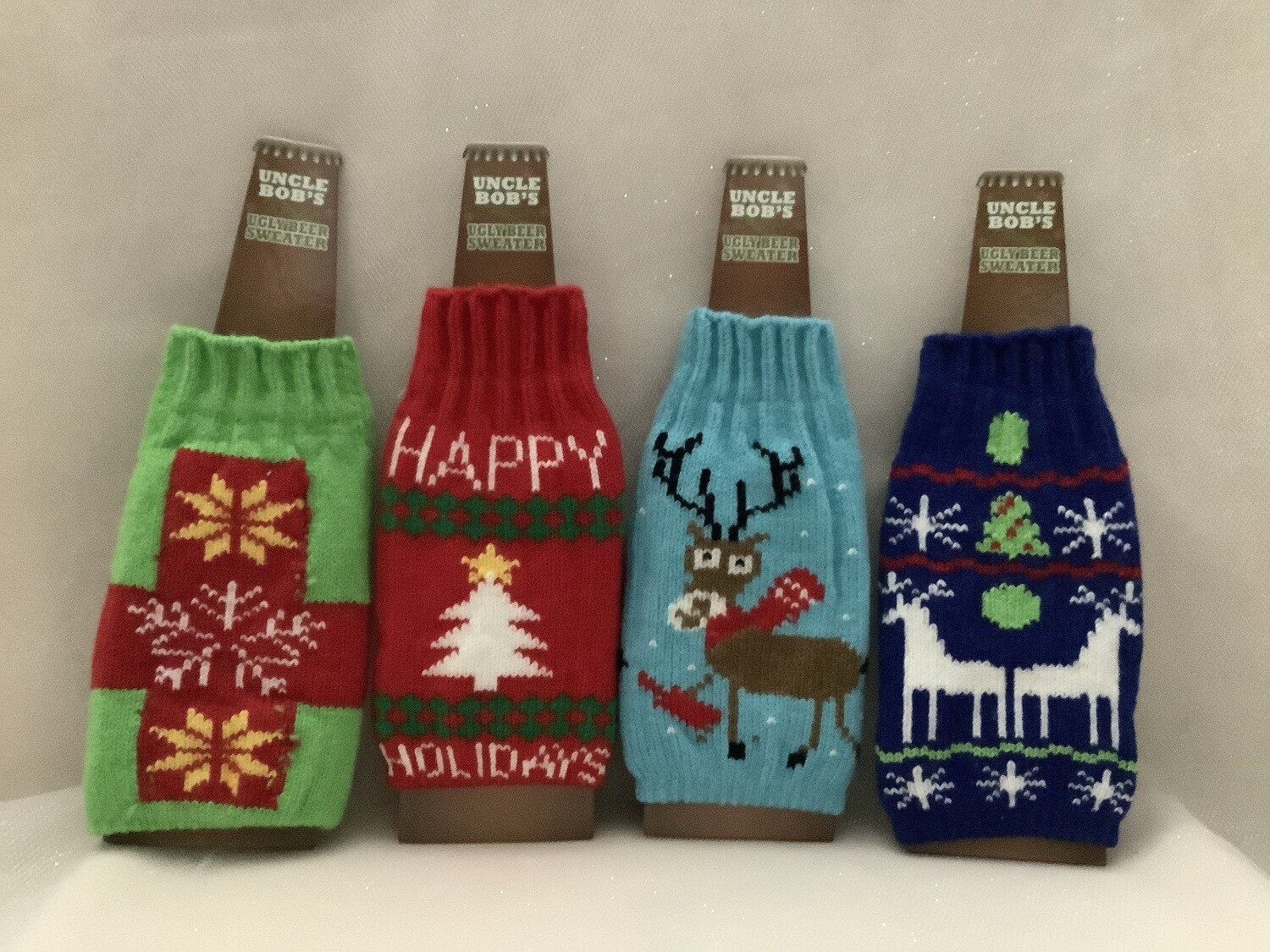 Ugly Sweater Beer Bottle Cover - Assorted