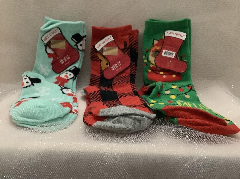 Women's Christmas Crew Socks