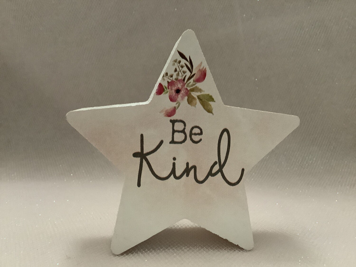 Star-Shaped Block Sign - Be Kind