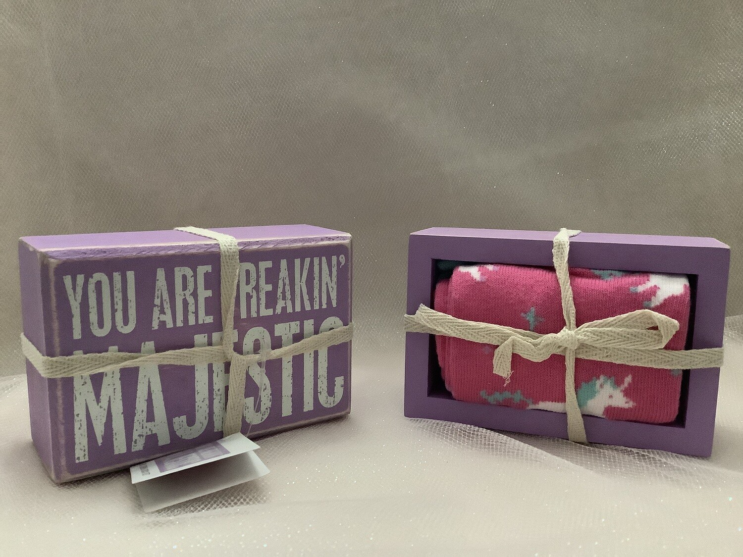 Box Sign and Sock Set - You Are Freakin' Majestic
