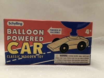 Balloon-Powered Car - Classic Wooden Toy