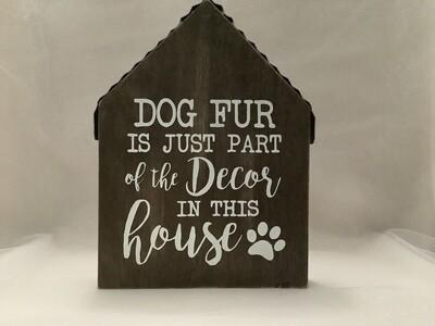 Wood and Tin House Sign - Dog