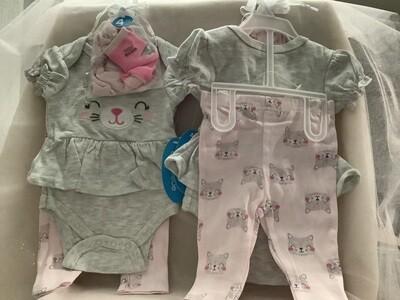 Baby Set with Applique - Cat 0/3M