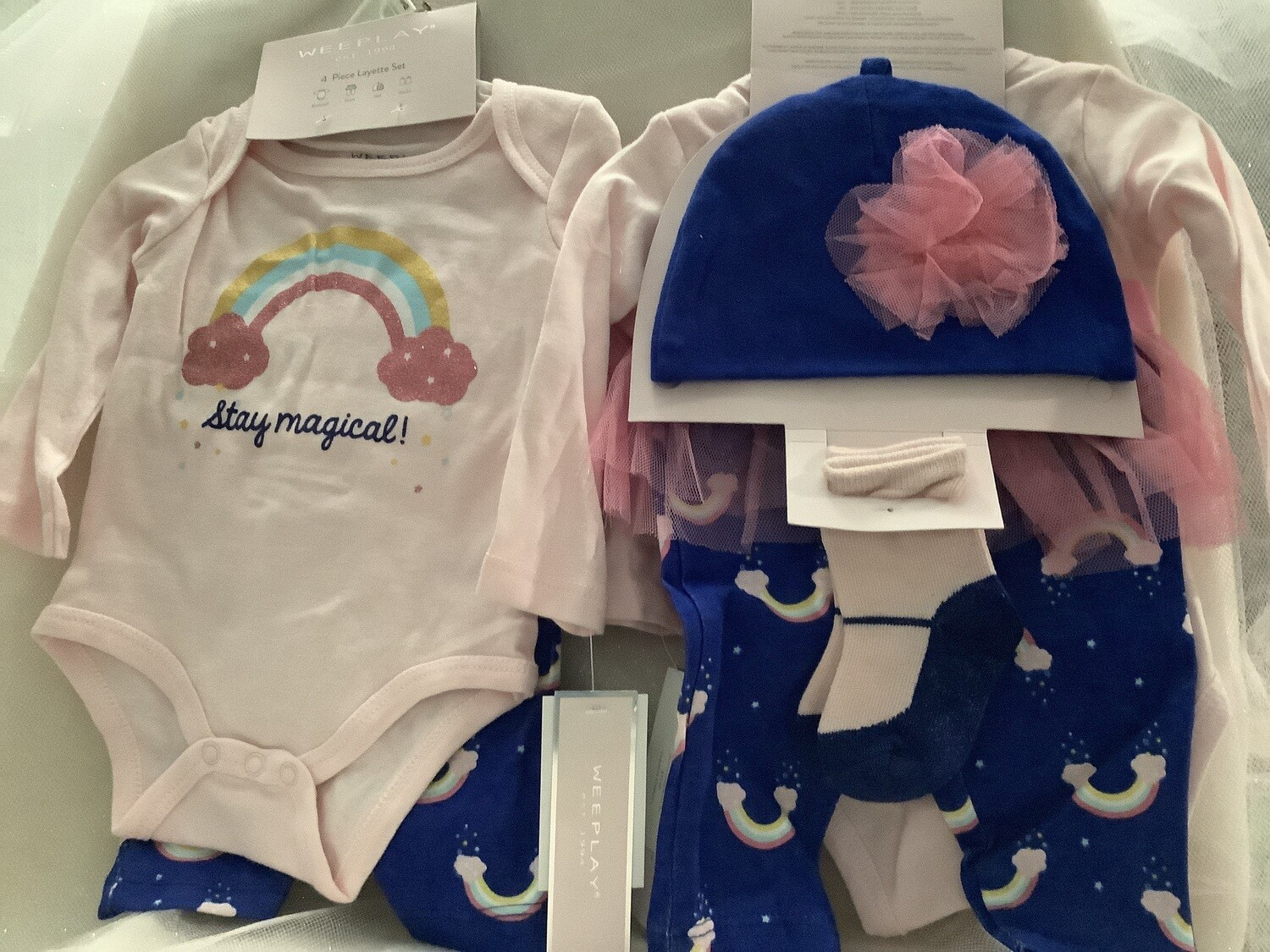 Baby Girl Clothing Set with Tutu Skirt - Stay Magical 0/3M