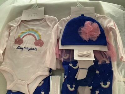 Baby Girl Clothing Set with Tutu Skirt - Stay Magical 6/9M