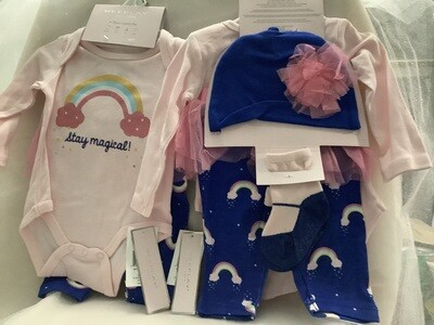 Baby Girl Clothing Set with Tutu Skirt - Stay Magical 3/6M