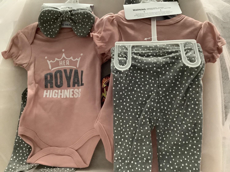 Baby Clothing Set - Her Royal Highness 0/6M