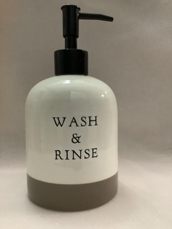 Ceramic Lotion and Soap Dispenser