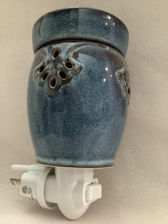 Ceramic Plug-In Warmer - Blue Art Deco