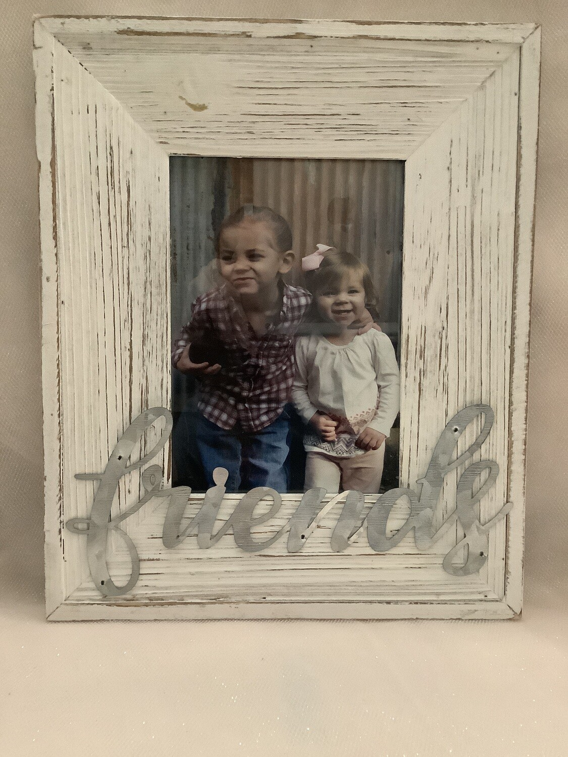 Wood and Metal Picture Frame - Family