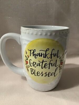 Boxed Ceramic Mug - Thankful Grateful Blessed