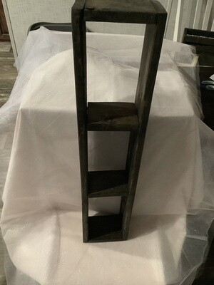 3 TIER SHELF--STAINED