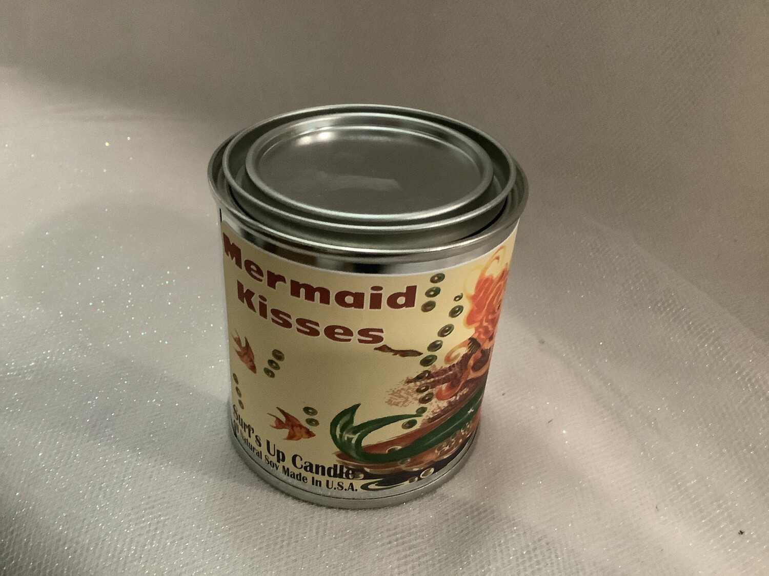 MERMAID KISSES PAINT CAN CANDLE 1/2 PINT