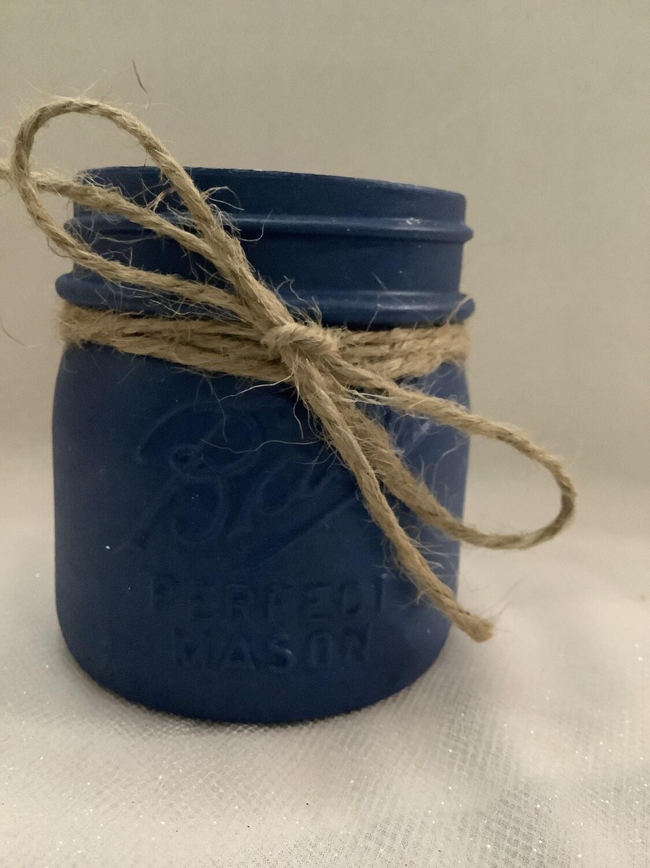 MASON JAR DARK BLUE