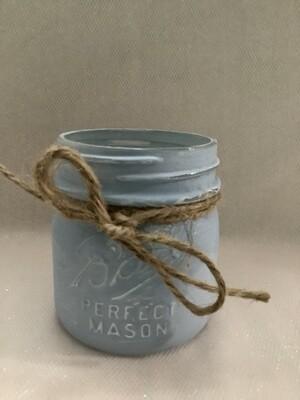 MASON JAR SMALL LIGHT BLUE