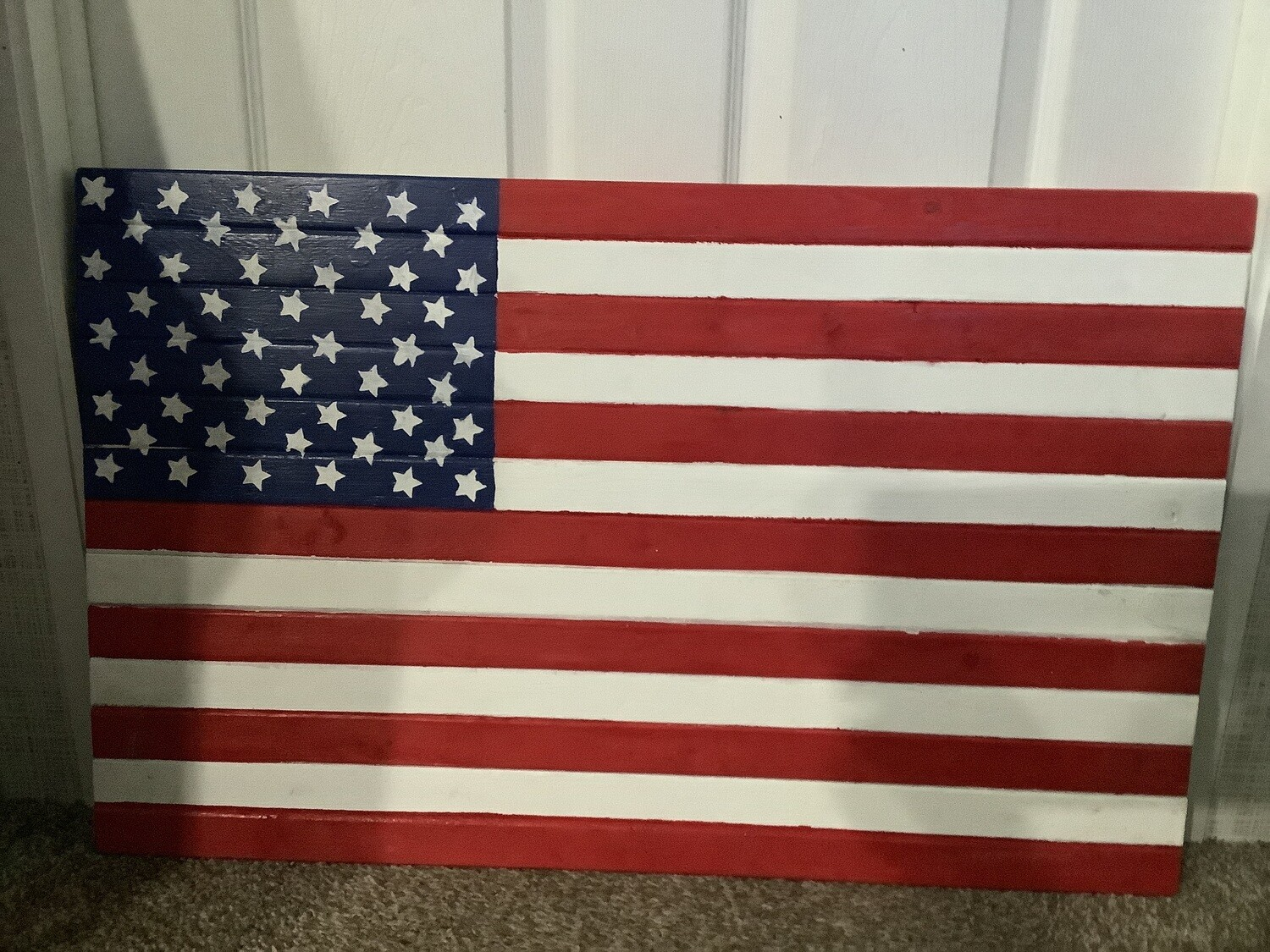 AMERICAN FLAG MADE OF WOOD