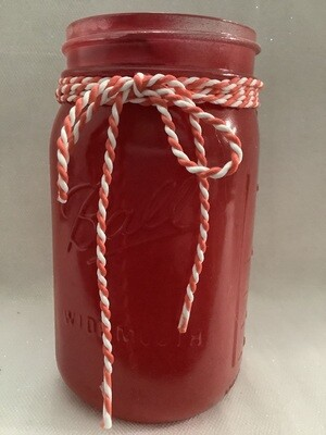 QUART MASON JAR RED