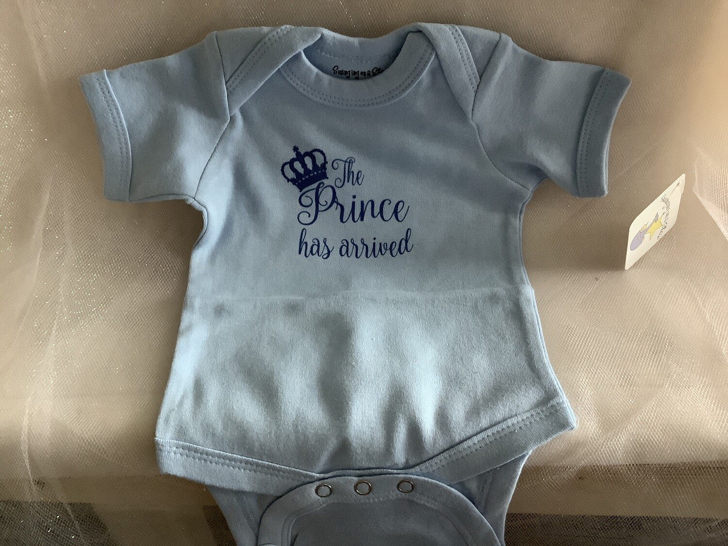 BLUE PRINCE HAS ARRIVED 0-6 MONTHS