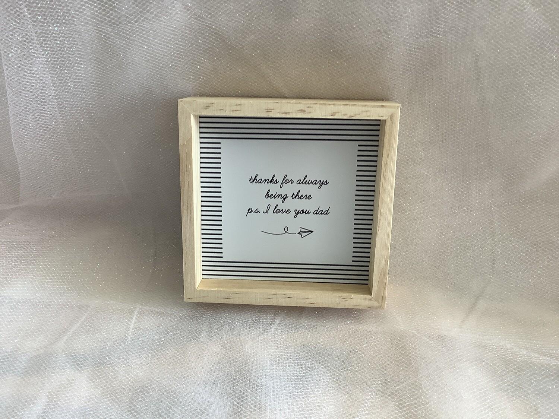 "4"" WOOD PINE BOX--I LOVE YOU DAD"
