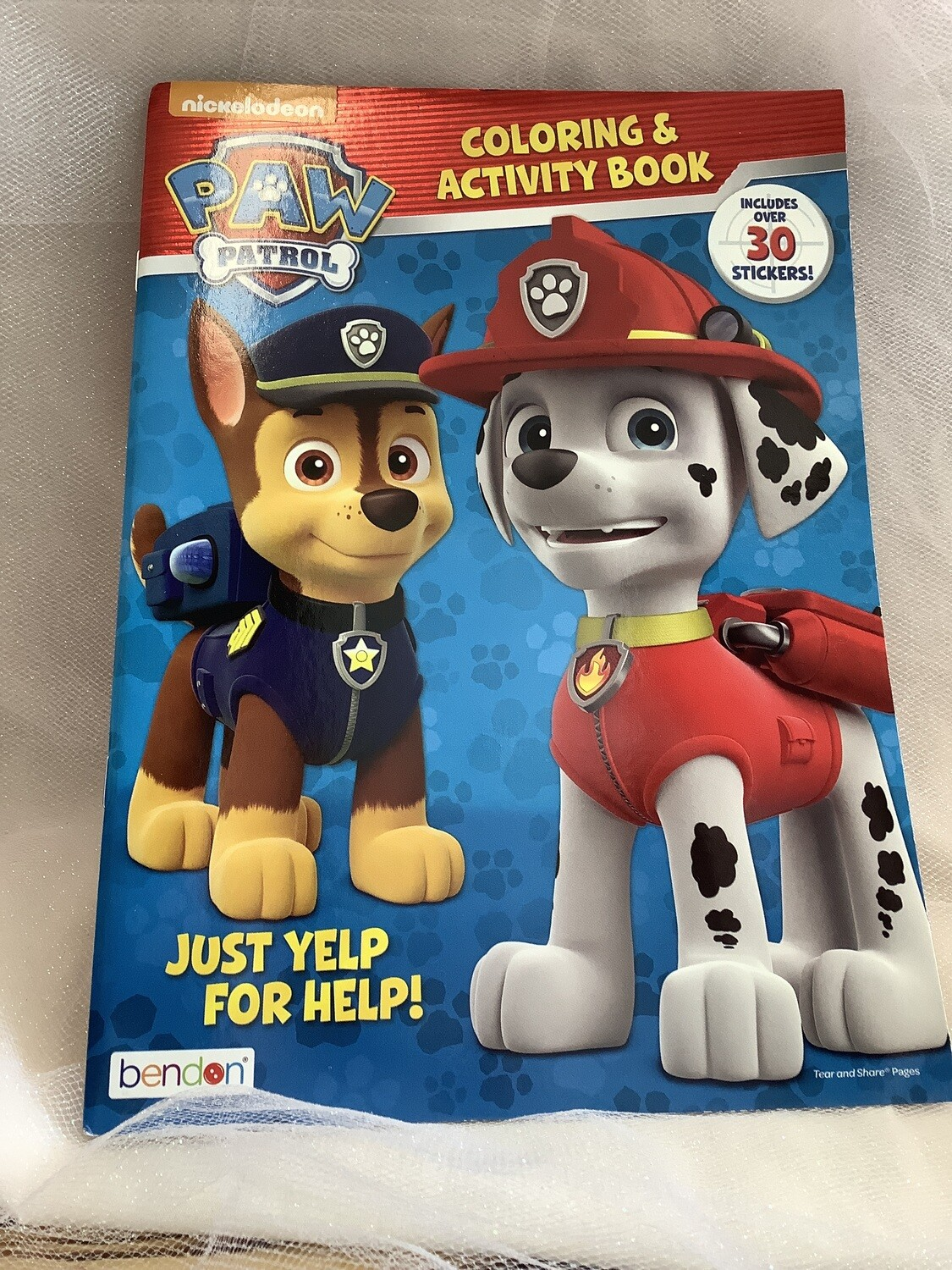 LICENSEDED COLORING AND ACTIVITY BOOK PAW PATROL
