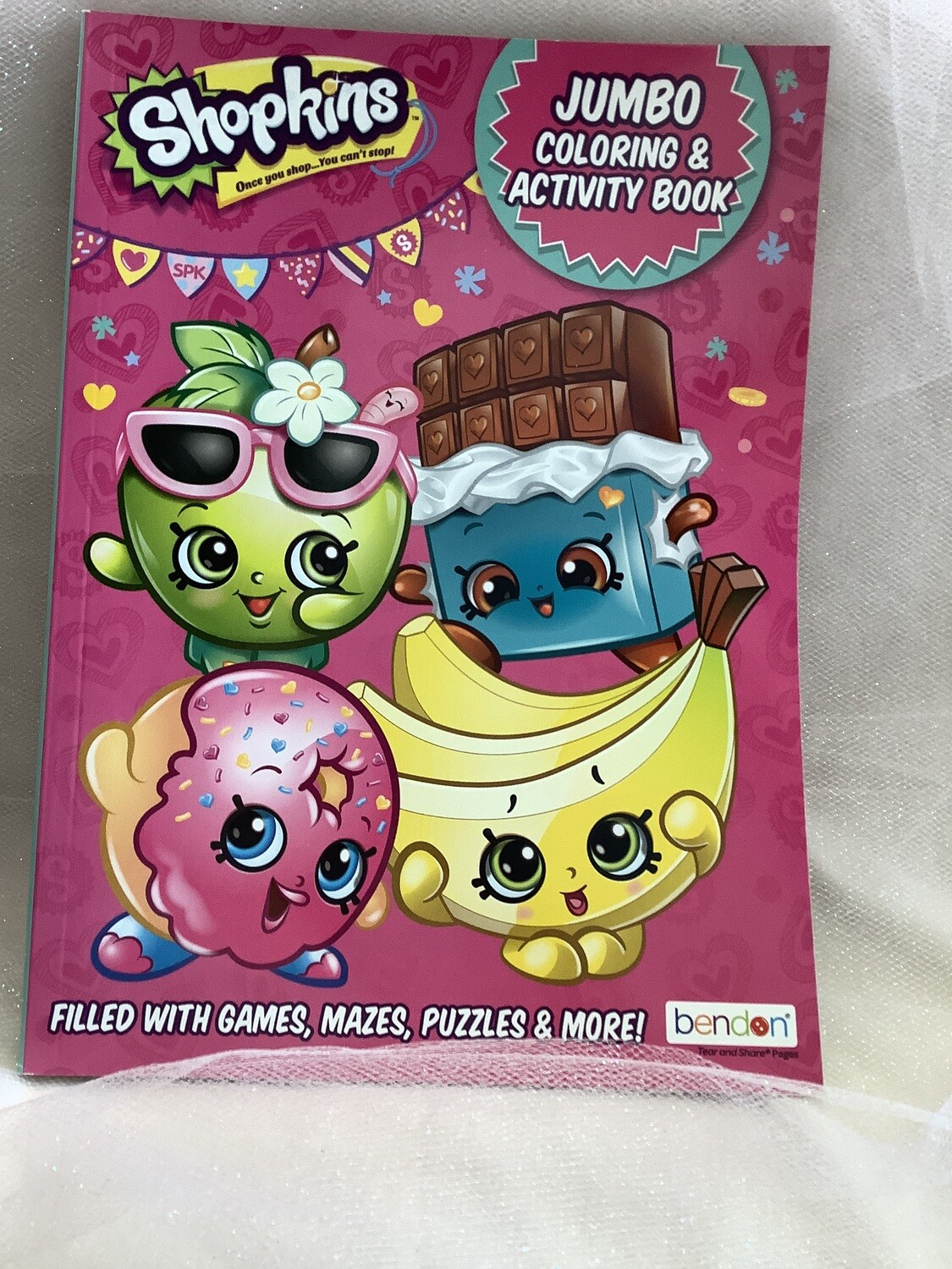 LICENSED GIANT COLOR AND ACTIVITY SHOPKINS