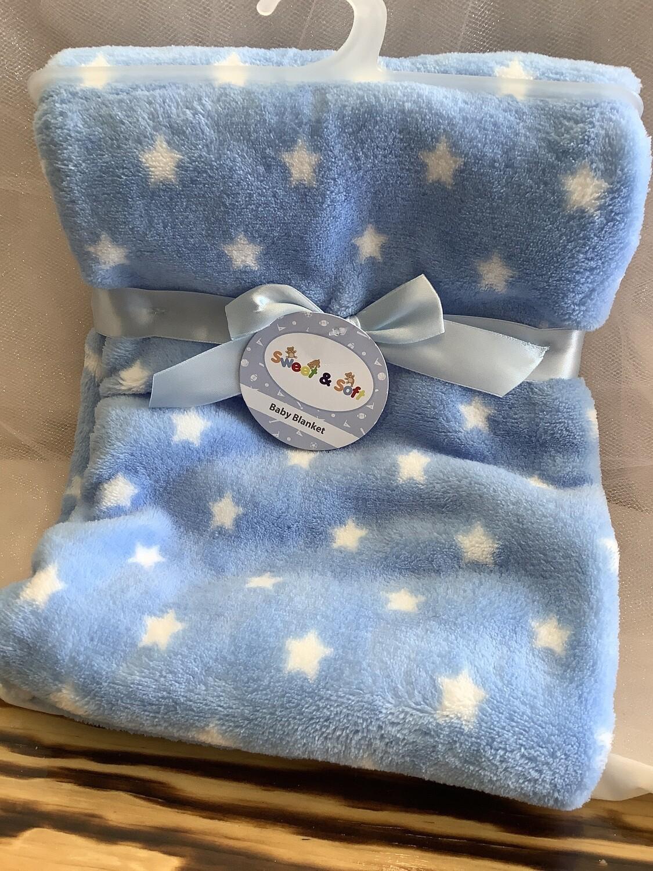30 X 40 BABY BLANKET BLUE