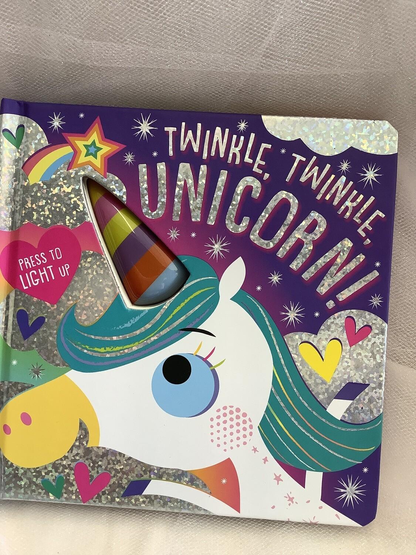 """7.5"""" LIGHT-UP BOARD BOOK-TWINKLE TWINKLE UNICORN!"""
