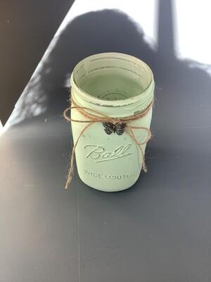 WIDE MOUTH QUART MASON JAR GREEN