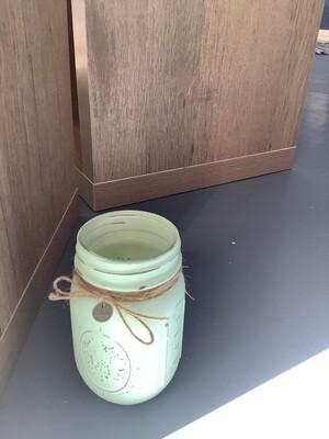PINT JAR GREEN W/CHARM