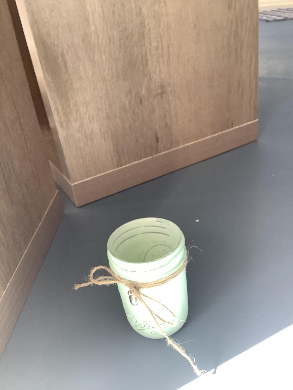 MASON JAR HALF PINT LIME GREEN