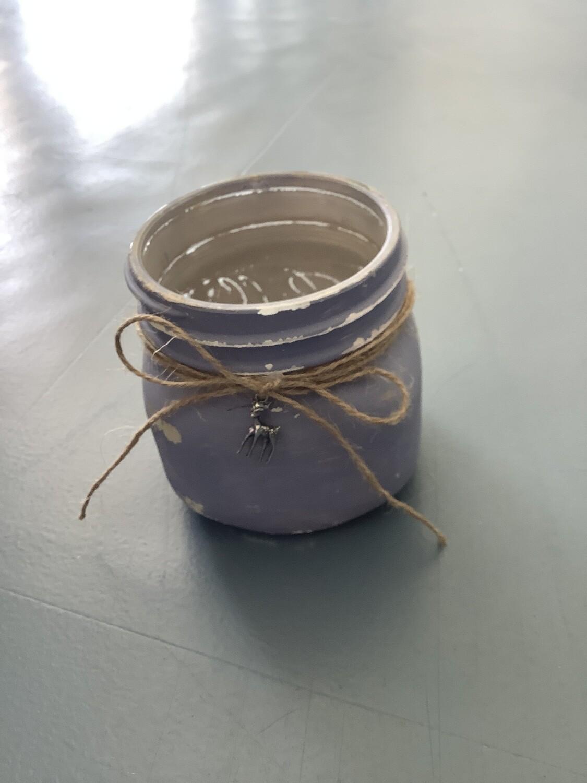 BLUE MASON JAR DEER CHARM