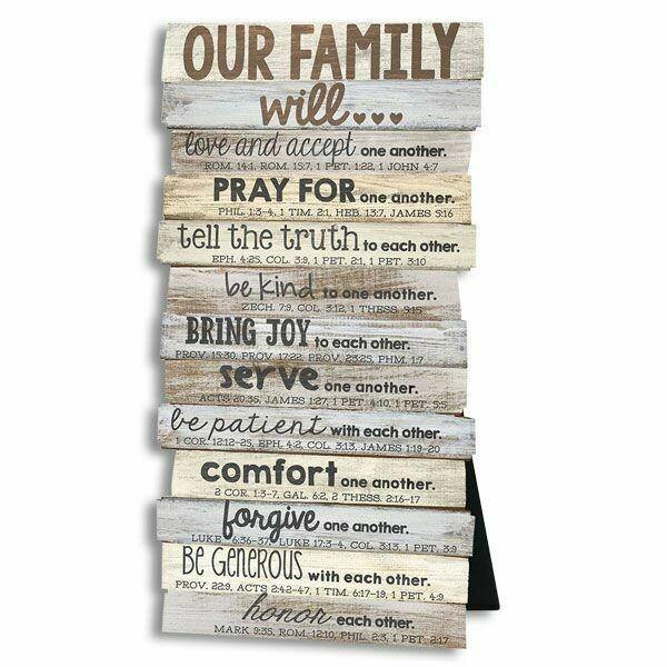 """""""OUR FAMILY"""" WALL PLAQUE"""