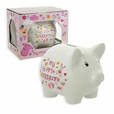 """5"""" FIRST PIGGY BANK PINK"""
