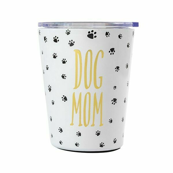 DOG MOM STAINLESS COFFEE TUMBLER