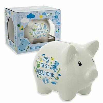 """5"""" FIRST PIGGY BANK BLUE"""