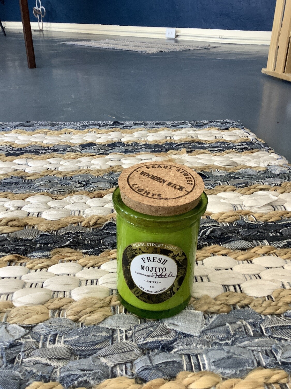 FRESH MOJITO CRACKLING WOODEN WICK CANDLE