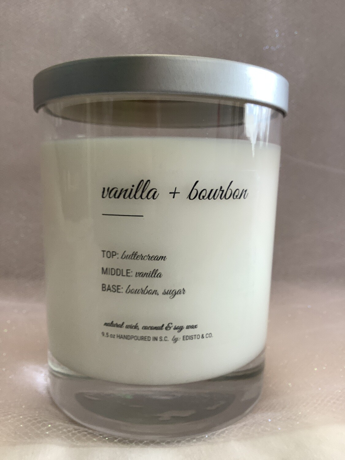 VANILLA + BOURBON HIGHLY SCENTED/LUXURY CANDLE