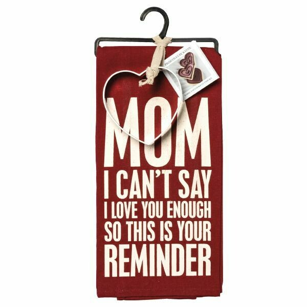 TOWEL/CUTTER SET MOM I CAN'T LOVE YOU ENOUGH