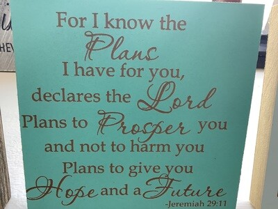 HANDCRAFTED SIGN--SMALL