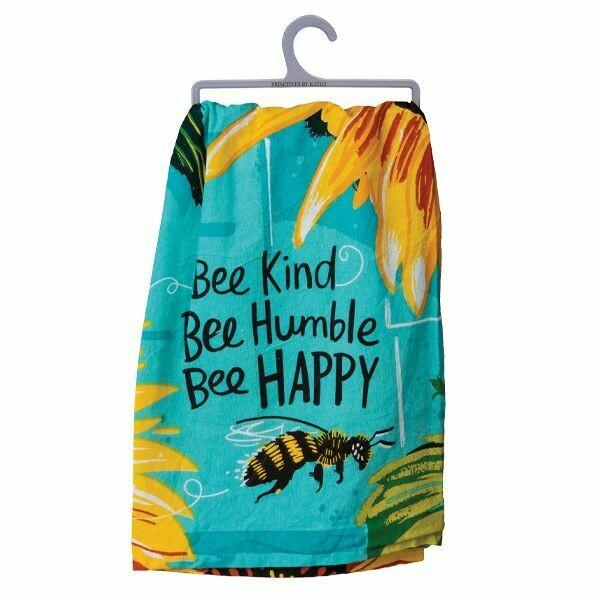 DISH TOWEL BEE KIND BEE HAPPY