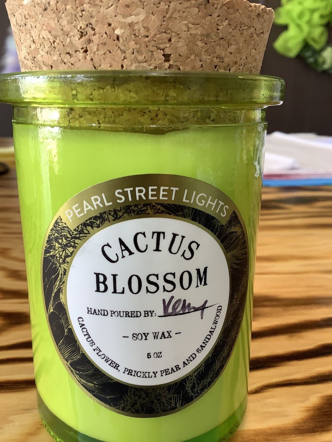 CACTUS BLOSSUM CRACKLING WOODEN WICK CANDLE