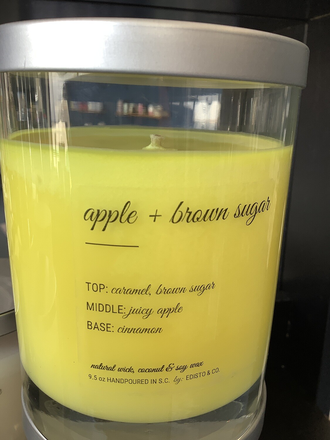 APPLE + BROWN SUGAR COTTON WICK CANDLE