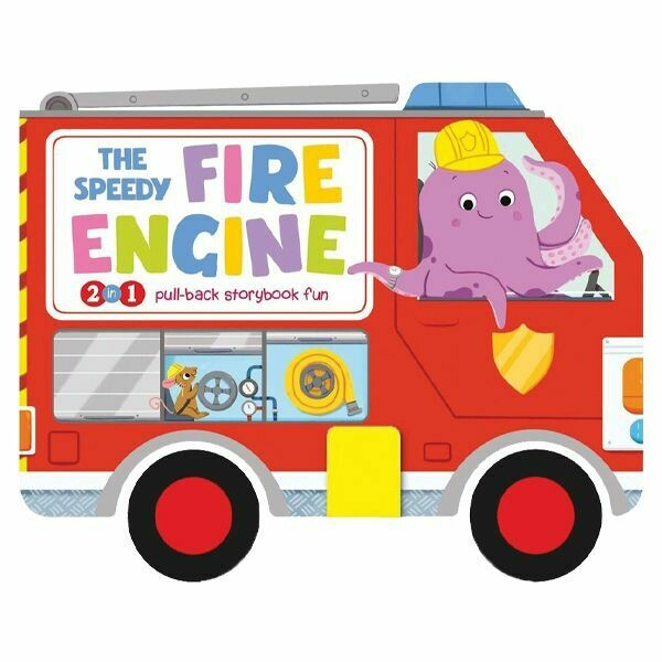 """7"""" PULLBACK STORY BOARD BOOK--FIRE ENGINE"""