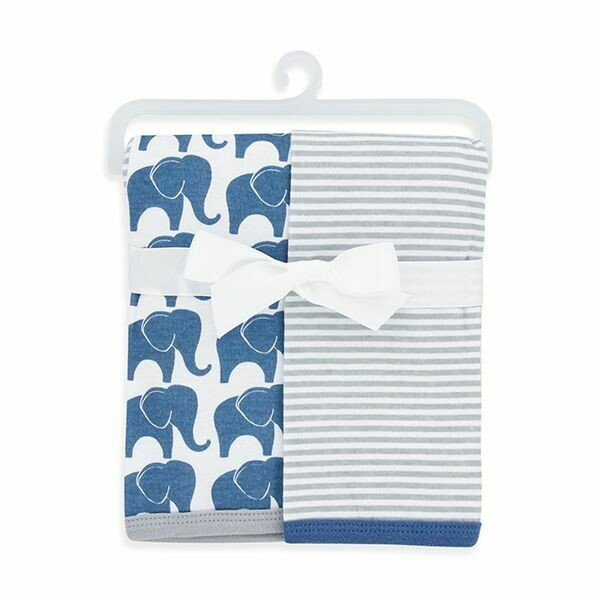2-PACK COTTON SWADDLE BLANKETS/BLUE