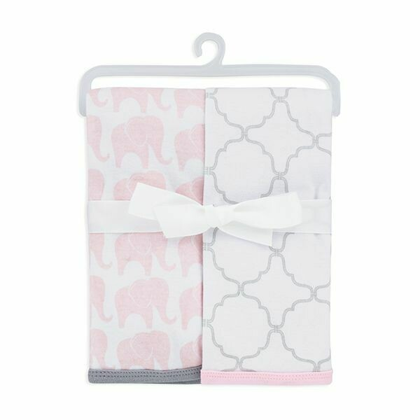 2-PACK COTTON SWADDLE BLANKETS/PINK