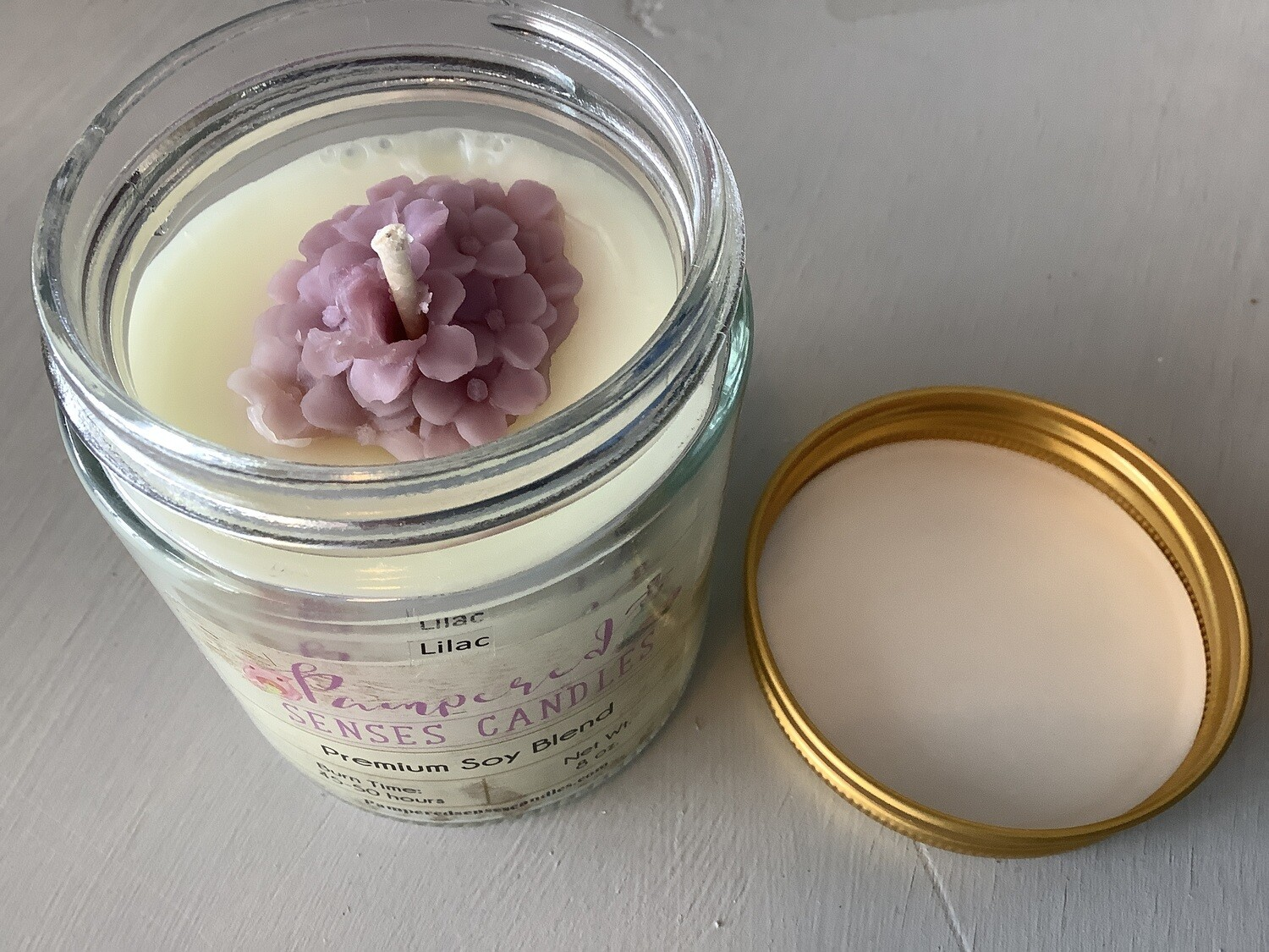 PAMPERED SENSES CANDLE LILAC 8 OZ