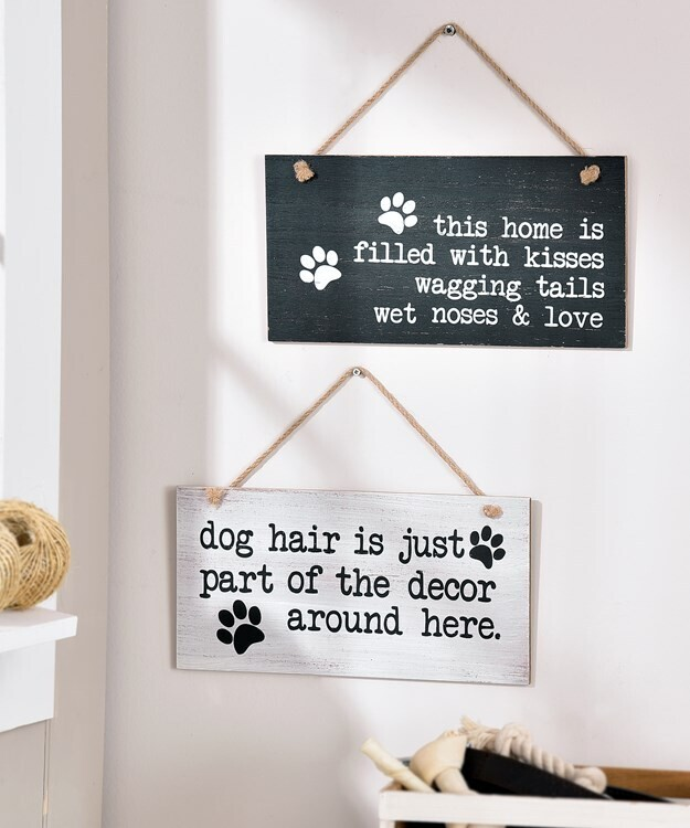 WOOD DOG WALL SIGN